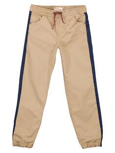 Calças forradas jersey avelã GOTRIPAN2 / 19W902J2PANI807