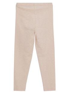 Leggings menina rosa pálido às riscas lurex dourado JYAPOELEG1 / 20SI01G2CAL301