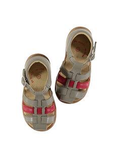 Sandálias citadinas couro bebé menino FBGSANDBI3 / 19SK38D2D0E940