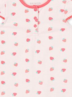 Babygro rosa-claro bebé menina LEFIGREAOP / 21SH13C2GRE001