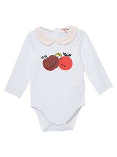 Body cru de mangas compridas bebé menina JIVIBODY / 20SG09D1BOD001