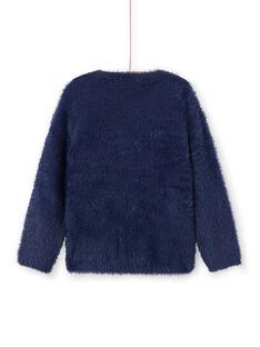 Camisola azul-marinho de pelo sintético menina MATUPULL / 21W901K1PUL070