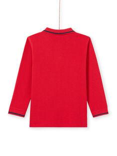 Polo mangas compridas liso vermelho menino MOJOPOL4 / 21W90211POL505
