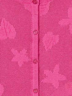 Casaco de malha mangas compridas, malha decorativa perfurada e padrão folha e flores LAVICAR / 21S901U1CAR304