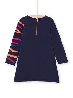 Vestido azul-marinho menina MATUROB3 / 21W901K1ROB070