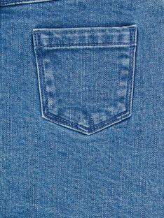 Saia curta de ganga azul e rosa LANAUJUP1 / 21S901P1JUPP274