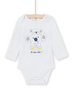 Body cinzento-pálido às riscas bebé menino MEGABODKOA / 21WH14B7BDLJ925