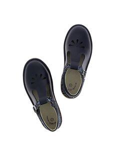 Girls' leather T-bar shoes CFSALSIE1 / 18SK35W1D3H070