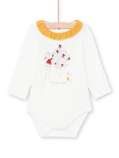 Body cru e mostarda bebé menina MIMIXBOD1 / 21WG09J2BOD001