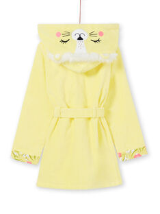 Roupão com capuz amarelo e rosa criança menina LEFAROBLEO / 21SH1151RDC116