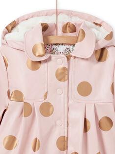 Impermeável rosa às bolas menina MAPAIMPER / 21W90151IMPD332