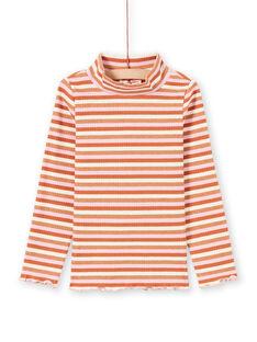 Camisola interior de mangas compridas às riscas coloridas menina MACOMSOUP / 21W901L1SPL420