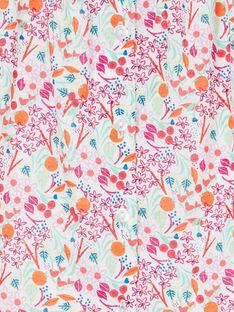 Vestido e bloomer rosa e laranja estampado florido bebé menina LIVIROB2 / 21SG09U2ROB000