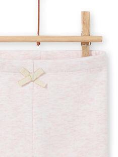 Leggings forrado rosa mesclado com padrões coelhos bordados bebé menina MIJOPANDOU3 / 21WG0912PAND314