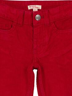 Calças em veludo Vermelho Regular GOJOPAVEL4 / 19W90233D2BF508