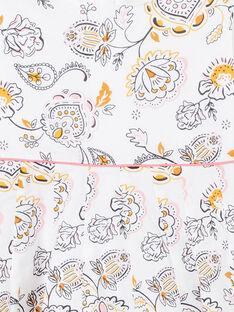 Vestido cru e amarelo estampado caxemira LAPOEROB1 / 21S901Y1ROB001
