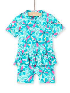 Macacão de banho turquesa bebé menina LYICOMBEX / 21SI09DDMAIG621