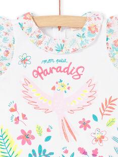 T-shirt branca com folhos bebé menina LIBONBRA / 21SG09W1BRA000