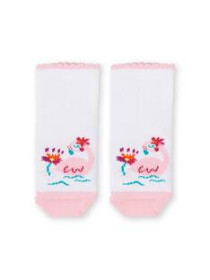 Meias rosa e branco bebé menina LYIBONSOQ / 21SI09W1SOQ000
