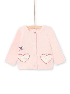 Casaco de malha 2 em 1 rosa bebé menina LICANCAR / 21SG09M2CARD326