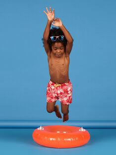 Calções de banho vermelhos criança menino LYOMERBOXJUN / 21SI02D9MAI050