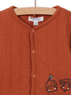 Casaco de malha mangas compridas castanho recém-nascido unissexo MOU1GIL1 / 21WF0542GILI810