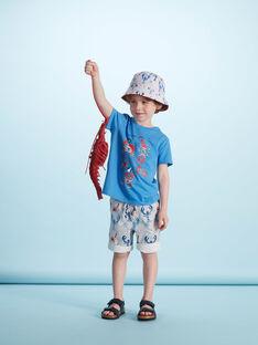 T-shirt menino mangas curtas azul com caranguejos JOCEATI3 / 20S902N6TMC201