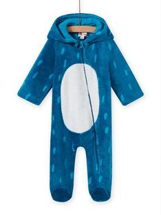 Sobrepijama azul com capuz e padrão monstro bebé menino MEGASURPYJ / 21WH1491SPY715