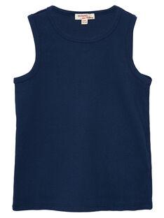 Camisola de alças menino azul-marinho JOESDEB2 / 20S90263D27070