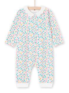 Babygro branco e rosa estampado florido bebé menina MEFIGREFLE / 21WH1334GRE001