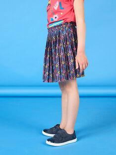 Saia rosa e azul estampado florido criança menina LAHAJUP / 21S901X1JUP070