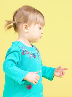 Cardigan turquesa bebé menina JIMARCAR / 20SG09P1CAR310