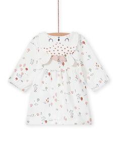Vestido cru estampado decorativo recém-nascido menina MOU1ROB / 21WF0341ROB001