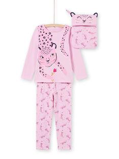Conjunto pijama T-shirt e calças rosa menina MEFAPYJAGU / 21WH1171PYGH700