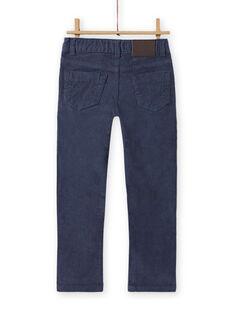 Calças lisas azul cinzento menino MOJOPAVEL6 / 21W902N1PANJ902