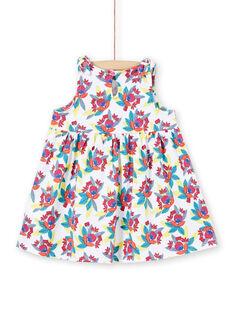 Vestido branco bebé menina LIPLAROB4 / 21SG09T4ROB000