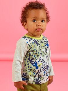 T-shirt de mangas compridas estampado tigres bebé menino MUKATEE1 / 21WG10I2TML006
