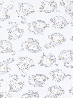 Babygro com padrões decorativos bebé unissexo LOU1GRE3 / 21SF05H4GRE000