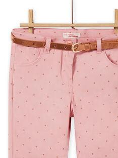 Calças rosa envelhecido às bolas menina MASAUPANT2 / 21W901P1PAN303