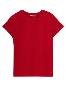 T-shirt de mangas curtas liso menino vermelho JOESTI4 / 20S90264D31F505