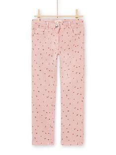 Calças rosa estampado florido menina MAJOPANT2 / 21W90122PAN312