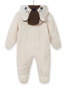 Babygro cru em sherpa urso bebé menino MUGROPIL / 21WG1061PIL001