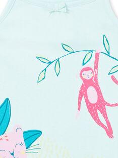 Camisa de dormir azul criança menina LEFACHURAG / 21SH11C2CHN219