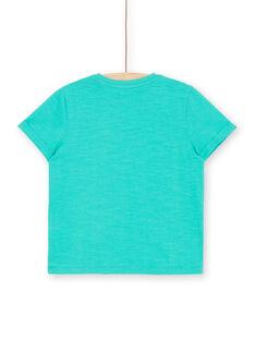 T-shirt mangas curtas verde criança menino LOBONTI6 / 21S902W1TMC600