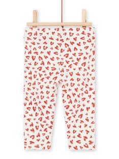 Leggings cru e vermelho bebé menina LYITERLEG / 21SI09V1CAL001