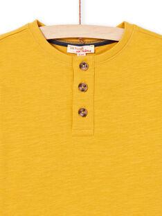 T-shirt amarelo menino MOJOTUN2 / 21W90213TML113