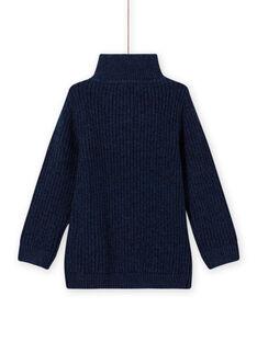 Camisola gola subida azul e bordado trator menino MOCOPUL / 21W902L1PUL219