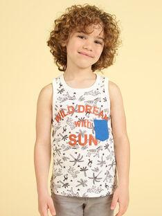 Camisola de alças cru e preto criança menino LOTERDEB / 21S902V1DEB001