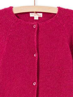 Casaco de mangas compridas liso rosa menina MAJOCAR4 / 21W90122CARD312