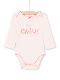 Body rosa pálido bebé menina MEFIBODCHOU / 21WH13B1BDLD310